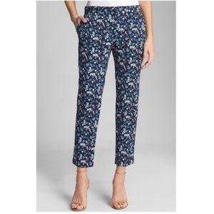 NWT Gap Slim City Navy Floral Crop Ankle Pants